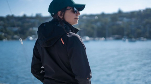 Woman in the INS200 jacket