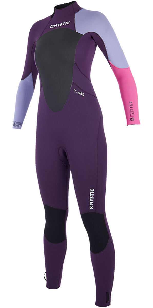2019 Mystic Womens Star 3/2mm GBS Back Zip Wetsuit Purple 180030