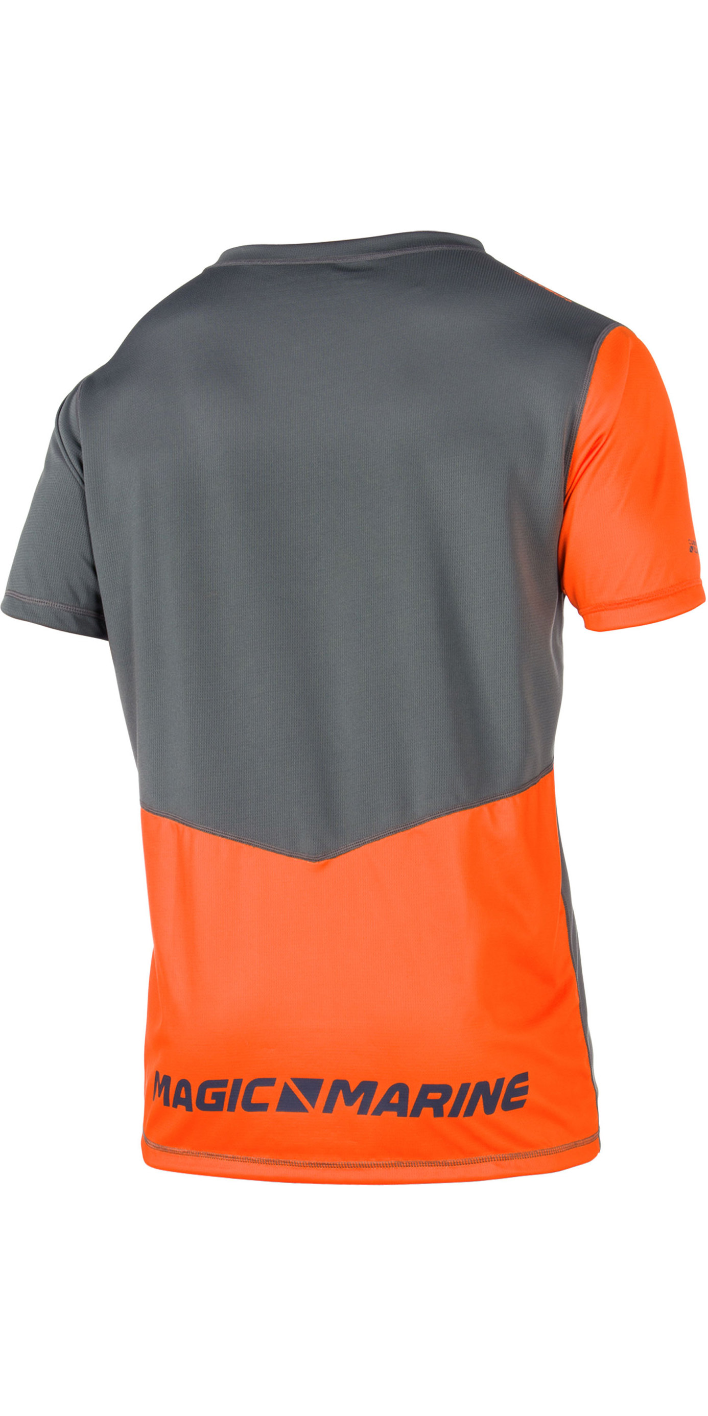 2020 Magic Marine Mens Cube Quick Dry Short Sleeve Top Orange 180062