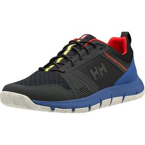 2020 Helly Hansen Skagen F-1 Offshore Sailing Shoes 11312 - Ebony / Royal Blue