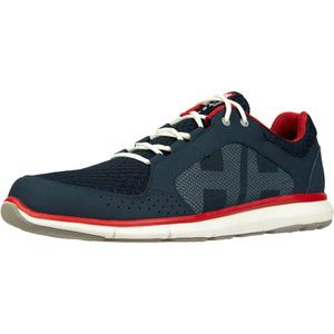 2020 Helly Hansen Ahiga V4 Hydropower Sailing Shoes 11582 - Navy / Flag Red