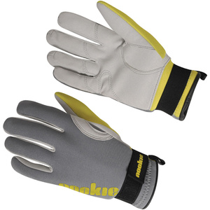 2020 Nookie Amara 2mm Neoprene Gloves GREY / YELLOW NE33