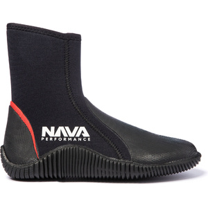 2021 Nava Performance 5mm Neoprene Zipped Boots NAVABT02 - Black