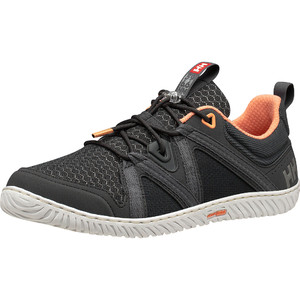 2021 Helly Hansen Womens HP Foil F-1 Sailing Shoes 11316 - Ebony / Charcoal / Melon