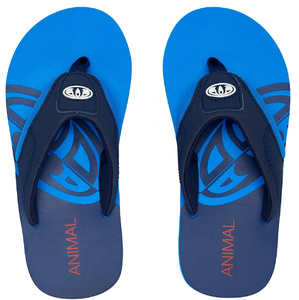 2020 Animal Junior Boys Jekyl Slice Flip Flops / Sandals FM0SS601 - Indigo Blue