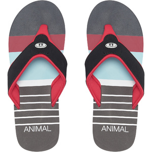 2019 Animal Mens Jekyl Swim Flip Flops Red FM9SQ010