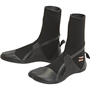 2020 Billabong Womens Synergy 3mm Hidden Split Toe Boots U4BT30 - Black