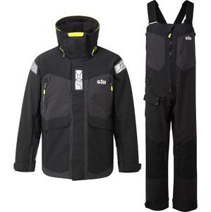 2021 Gill OS2 Mens Offshore Jacket & Trouser Combi Set - Black