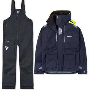 2021 Musto Mens BR2 Offshore Jacket & Trouser Combi Set - True Navy / Black