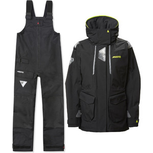 2021 Musto Womens BR2 Offshore Jacket & BR1 Trouser Combi Set - Black