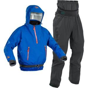 2020 Palm Mens Chinook Kayak Jacket & Zenith Trouser Combi Set - Blue / Grey