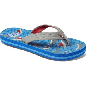 2020 Reef Junior Ahi Flip Flops / Sandals RF0A3VBL - Blue Shark