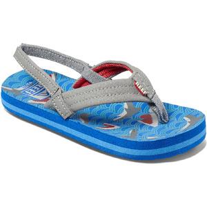 2020 Reef Toddler Little Ahi Flip Flops / Sandals RF002345 - Blue Shark