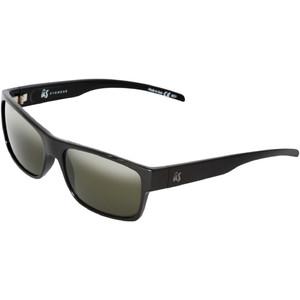 2021 US The Argos Sunglasses 823 - Gloss Black / Vintage Grey Polarised Lenses