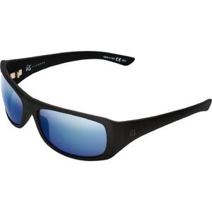 2021 US The Carbo Sunglasses 936 - Matte Black / Grey Blue Chrome Lenses