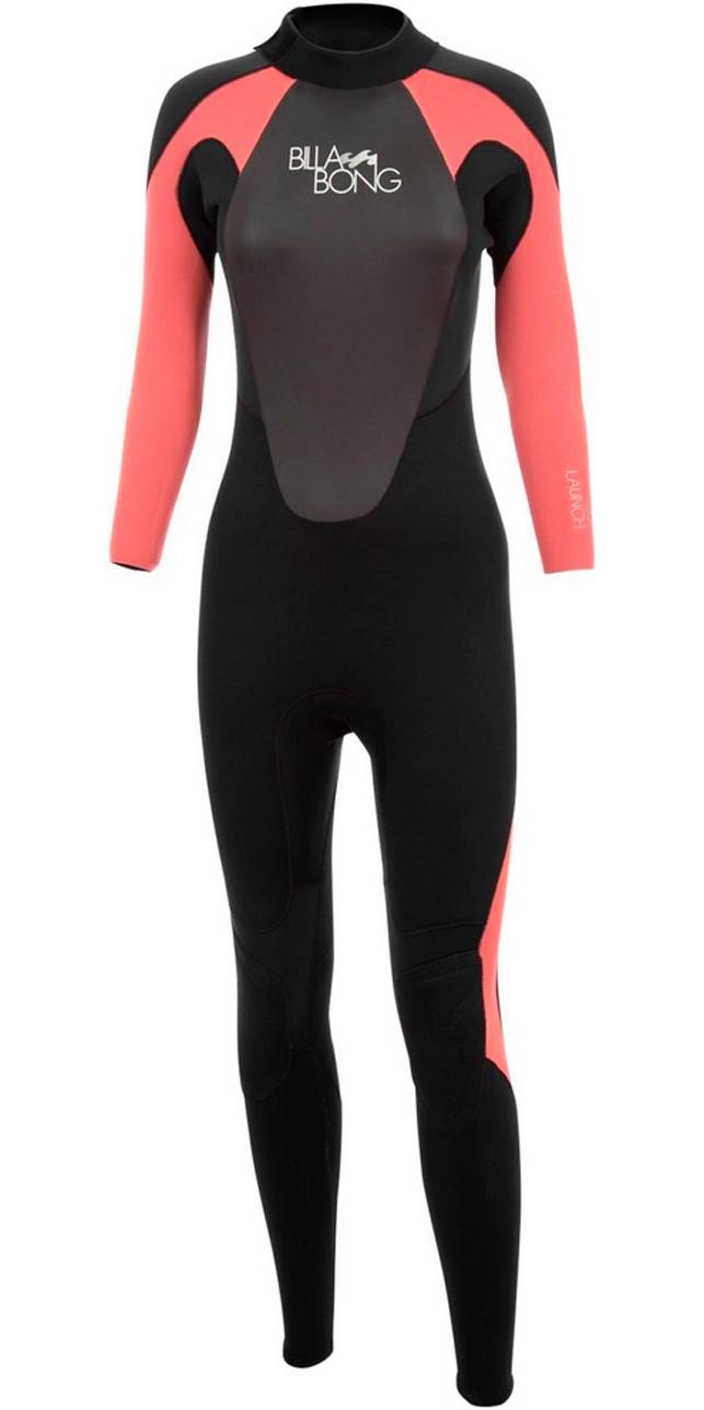 2018 Billabong Ladies Launch 5/4/3mm GBS Wetsuit Black / CHERRY O45G01/G45G05