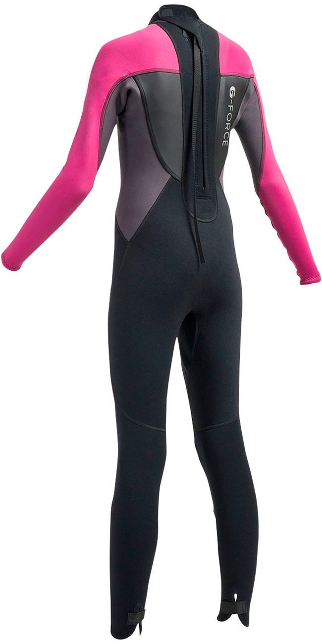 2018 Gul G-Force Junior 3mm Flatlock Wetsuit Black / Pink GF1308-A9