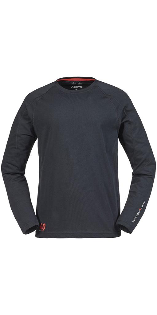 Musto Evolution Sunblock Long Sleeve T-Shirt Black SE1550
