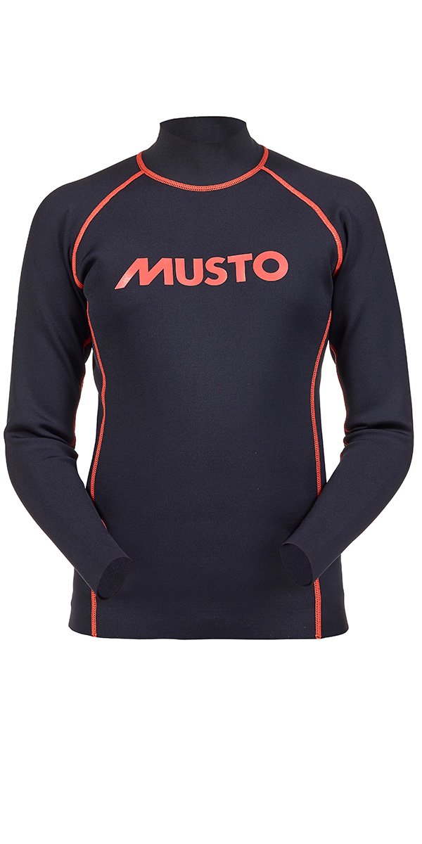 Musto Junior Long Sleeve Neoprene Top Black / Fire Orange KS112J0