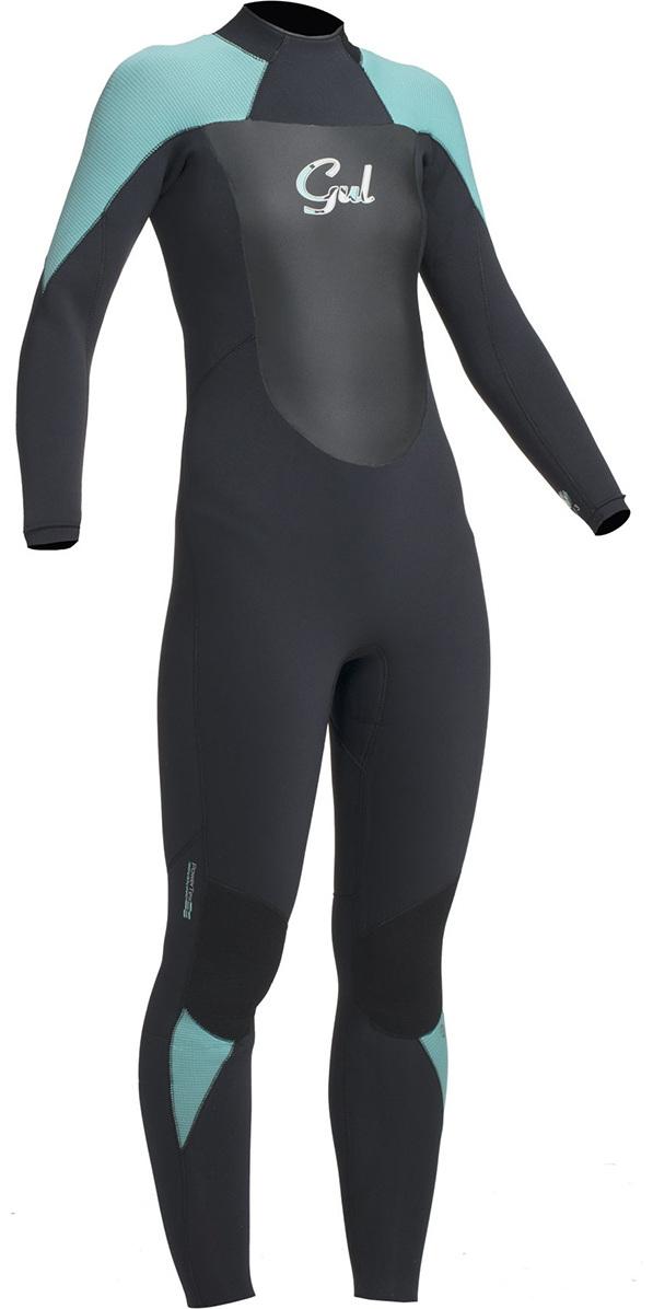 Gul Response Ladies 5/3mm GBS Back Zip Wetsuit Black / Pistachio RE1229-B1