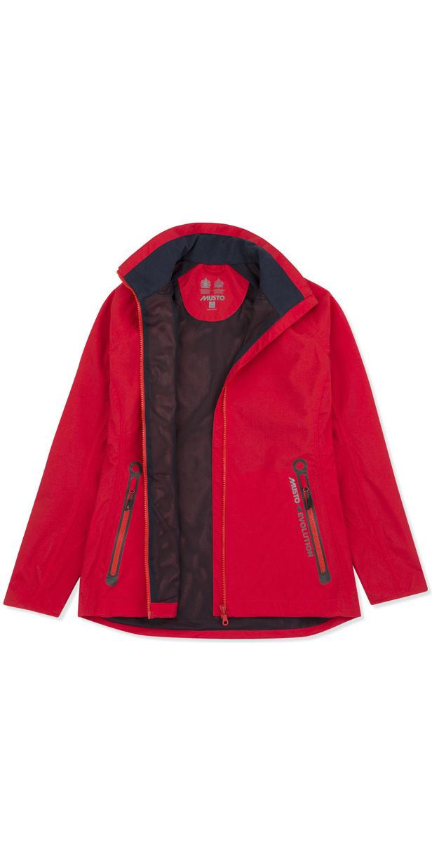 Musto Womens Essential Crew BR1 Jacket RED EWJK058 & Evolution Sunblock Polo Top Bundle Offer