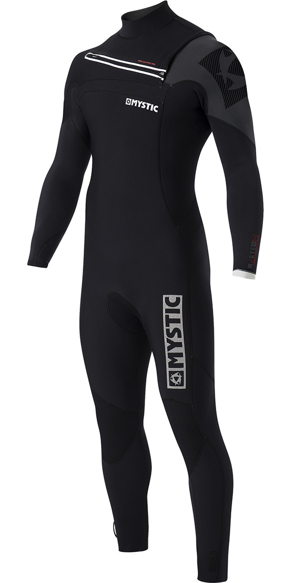 2017 Mystic Majestic 5/3mm GBS Chest Zip Wetsuit - Black 170010