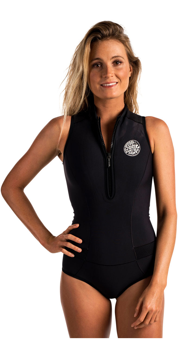 2020 Rip Curl Womens G-Bomb 1mm Sleeveless Shorty Wetsuit BLACK WSP6HW