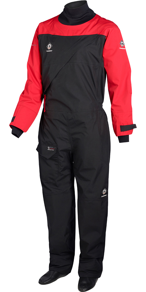 2018 Crewsaver Atacama Sport Drysuit INCLUDING UNDERSUIT RED / BLACK 6555