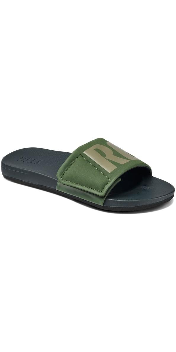 aaa64224f664 2018 Reef Mens Cushion Bounce Slide Flip Flops Olive Grey Rf0a3ol5ogl - Flip  Flops