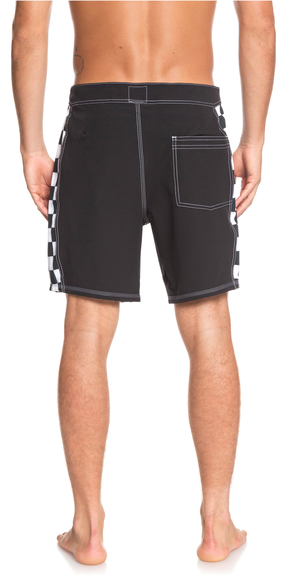 "2019 Quiksilver highline Checker Arch 18"" Boardshorts Black EQYBS04137"