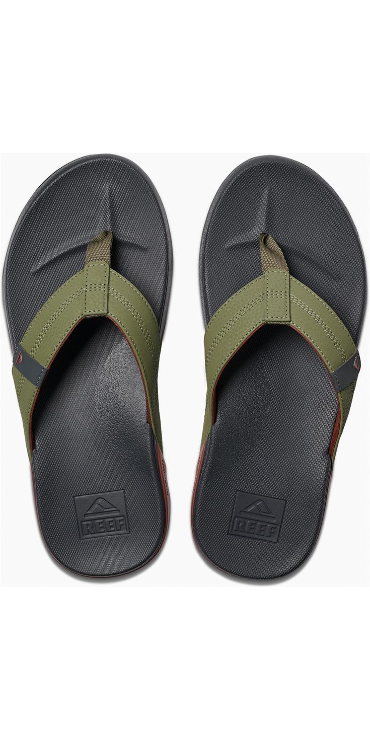 2e983e6f284 2019 Reef Mens Cushion Bounce Phantom Sandals / Flip Flops Olive / Red  RF0A3FDI ...