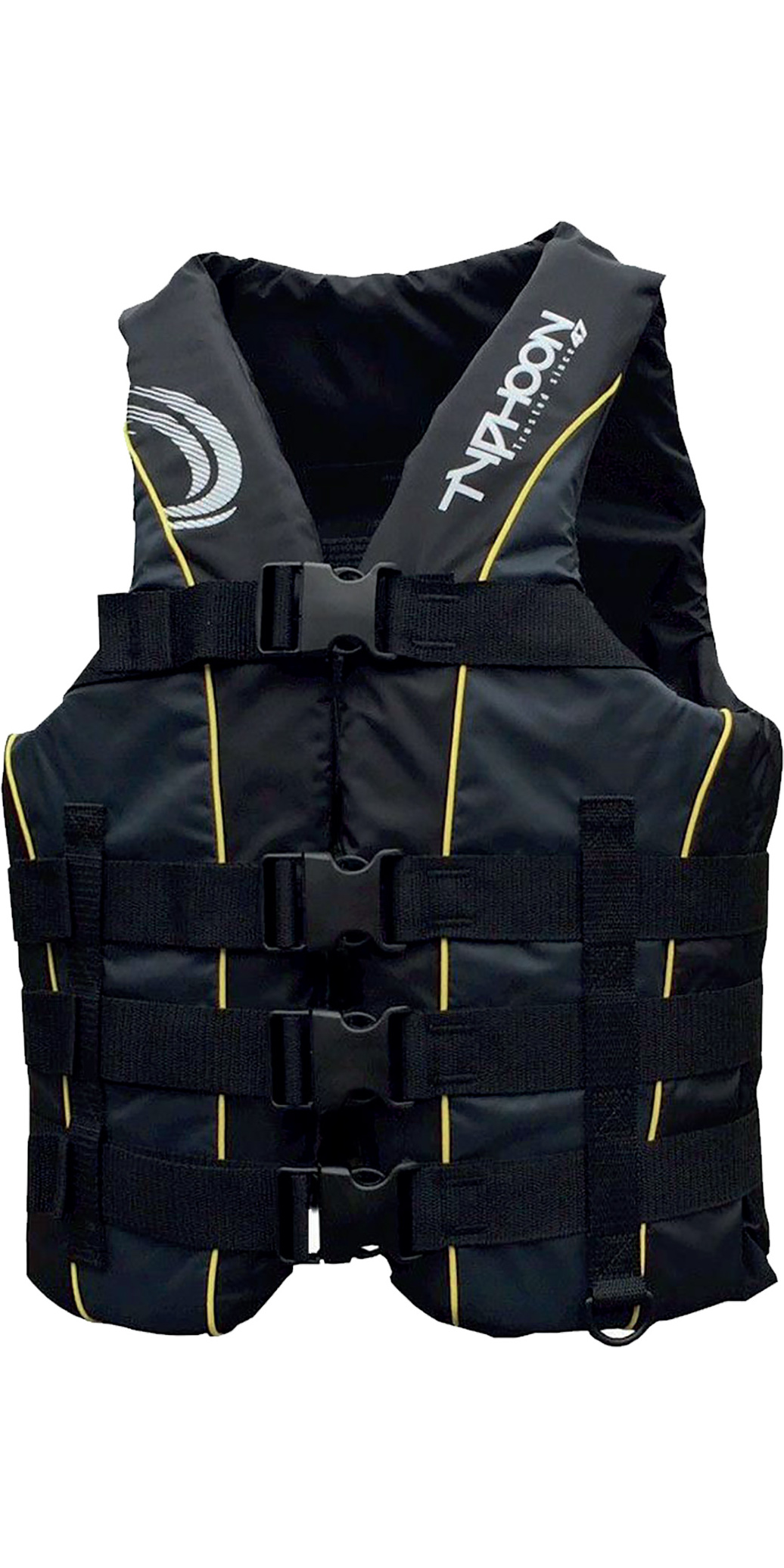 2020 Typhoon 4 Buckle Impact Ski Vest Black / Grey 410108