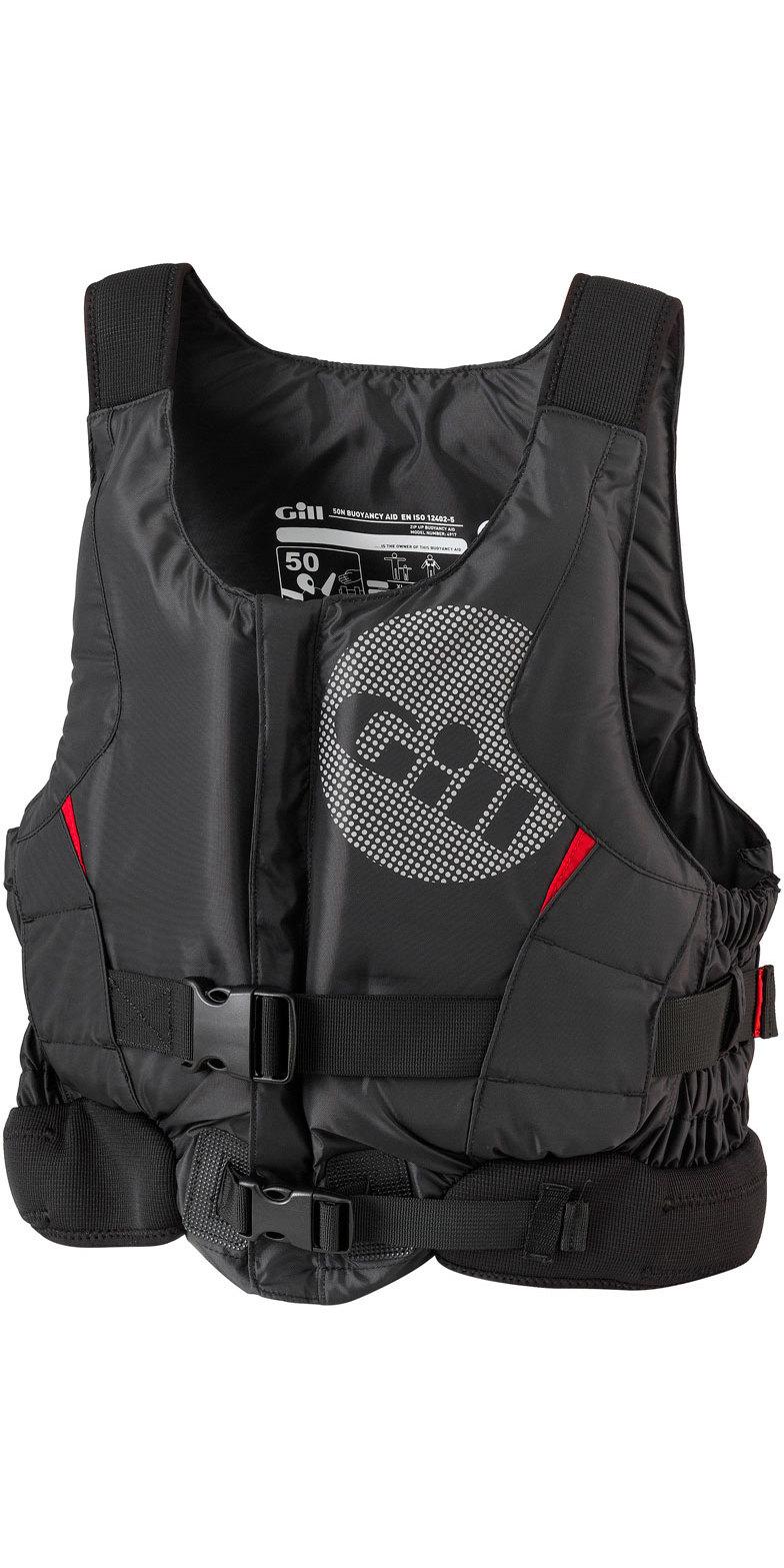 2019 Gill Junior Pro Racer Front Zip Buoyancy Aid Black - 4917J