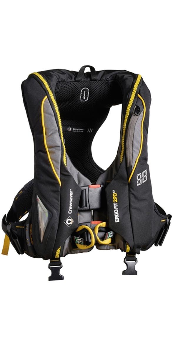 2019 Crewsaver ErgoFit 290N Extreme Lifejacket Hammar Harness Light Hood 9145-BKHP
