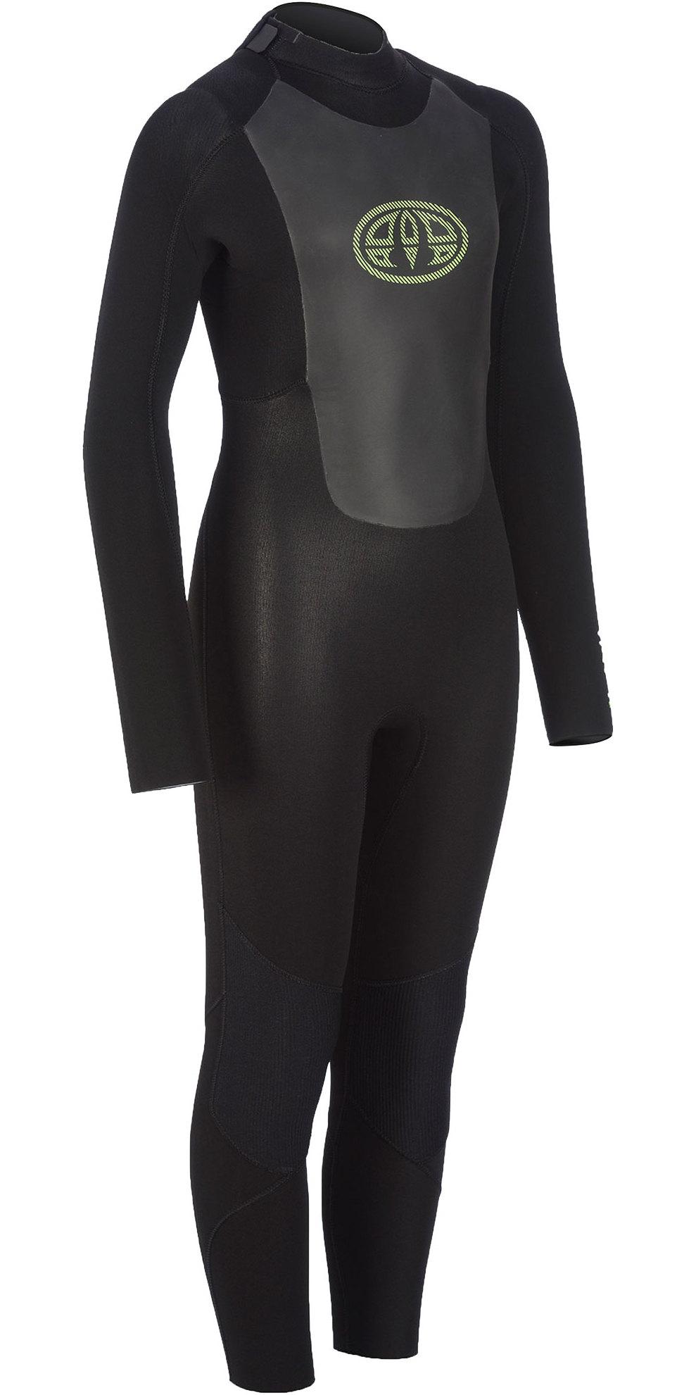 2019 Animal Junior Boys Lava 5/4/3mm GBS Back Zip Wetsuit Black AW9WQ601