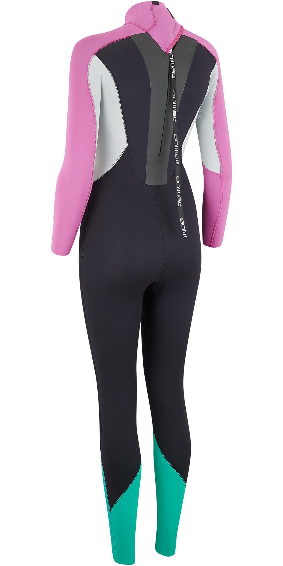 2019 Animal Womens Lava 4/3mm Back Zip GBS Wetsuit Black AW9SQ301