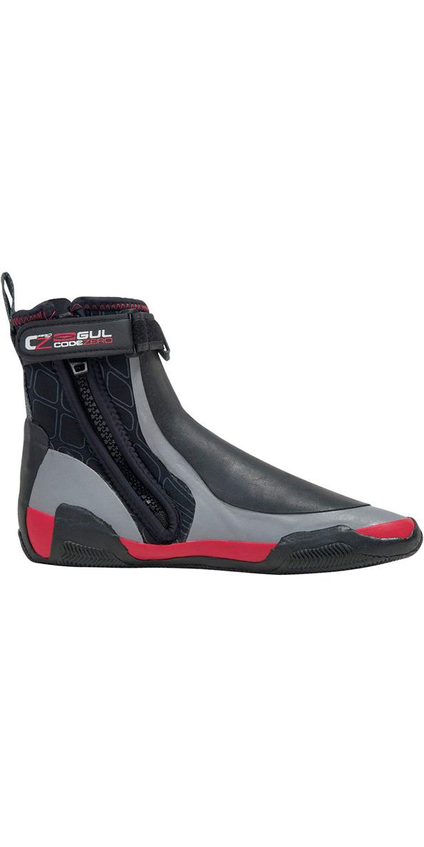 2018 Gul CZ Windward Pro 5mm Zipped Round Toe wetsuit Boot BLACK /GREY BO1279