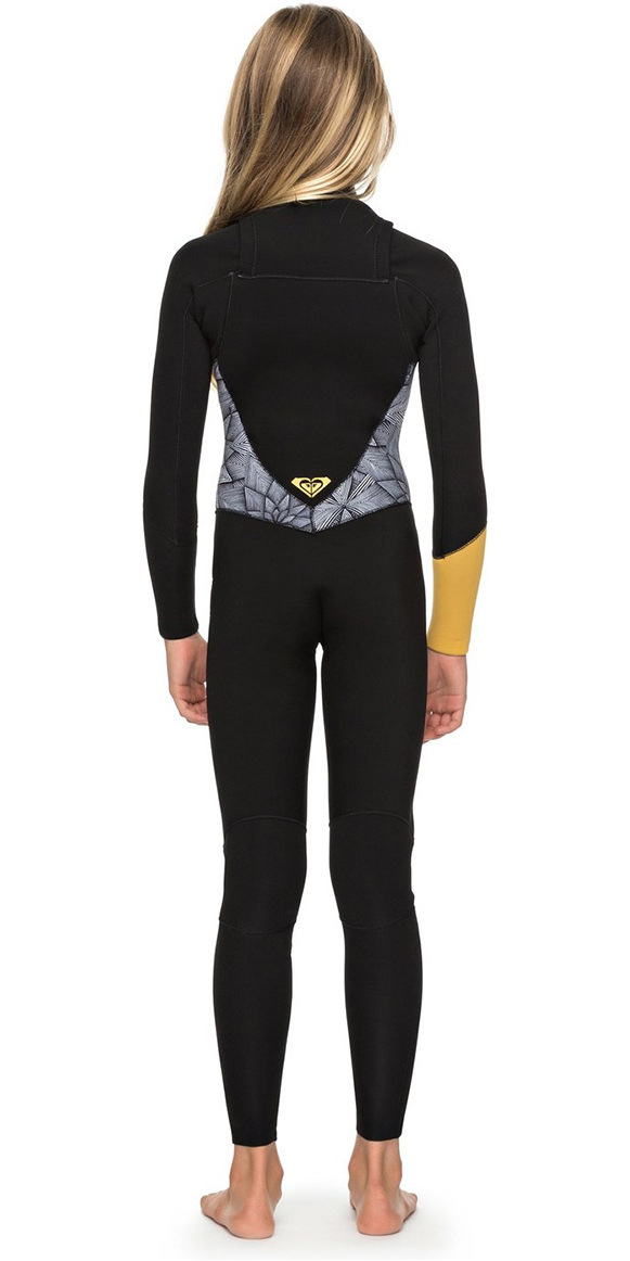 Roxy Girls Popsurf 3/2mm GBS Chest Zip Wetsuit Black ERGW103019
