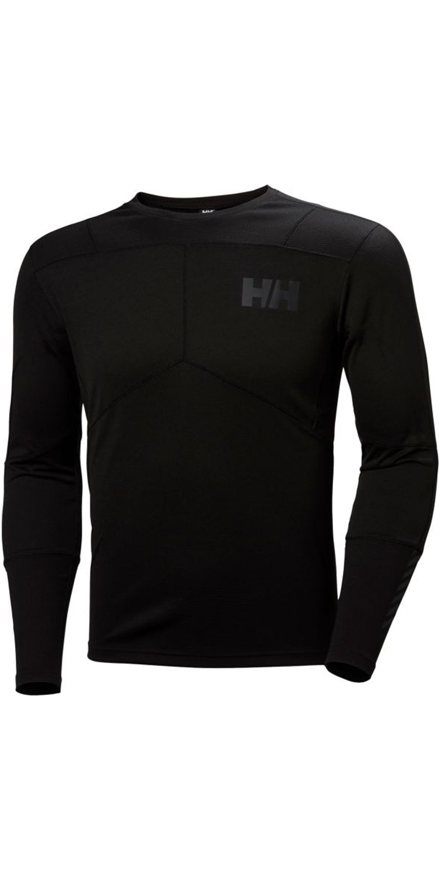 2019 Helly Hansen Lifa Active Crew Long Sleeve Base Layer Black 48308