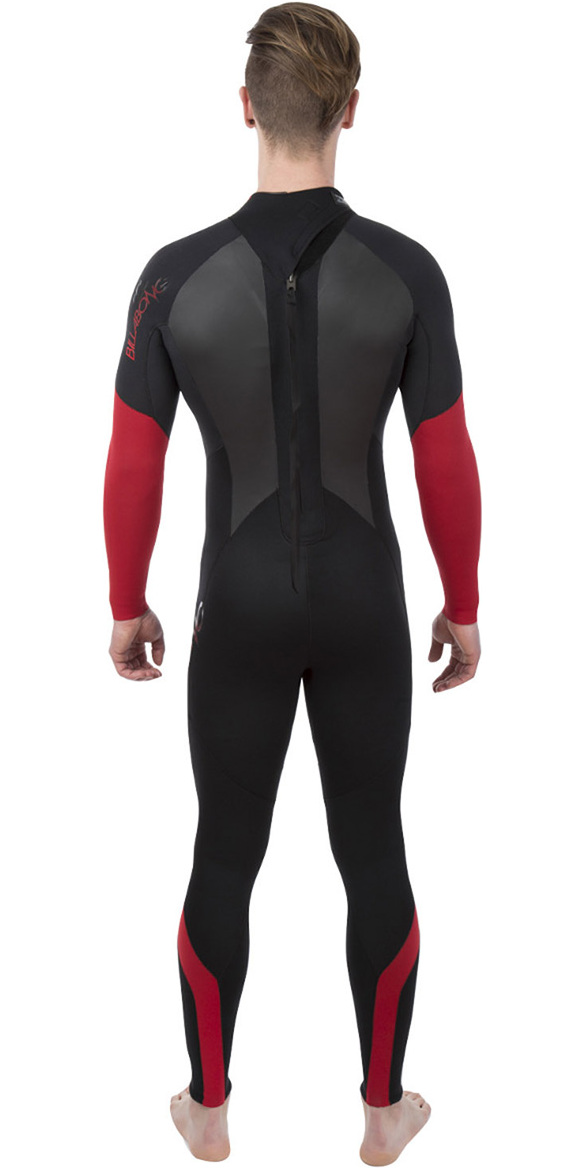 2018 Billabong Intruder 4/3mm GBS Back Zip Wetsuit BLACK / Red L44M51