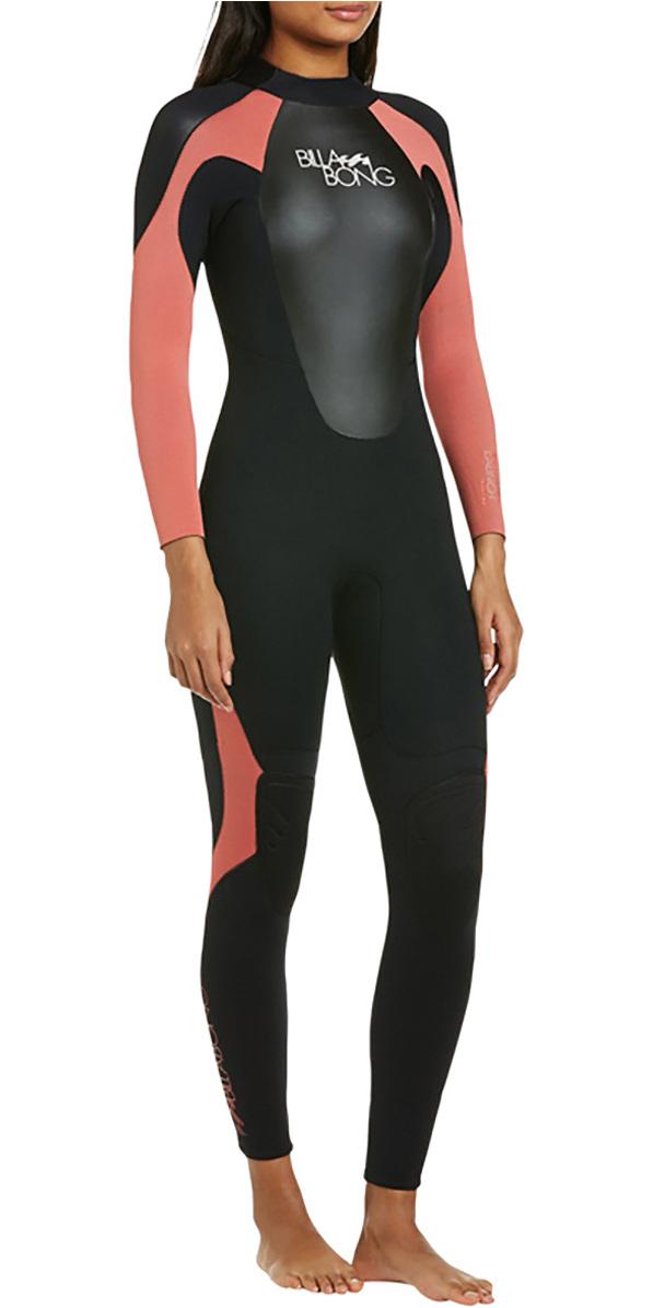 2018 Billabong Ladies Launch 5/4/3mm GBS Wetsuit Black / CHERRY 045G01