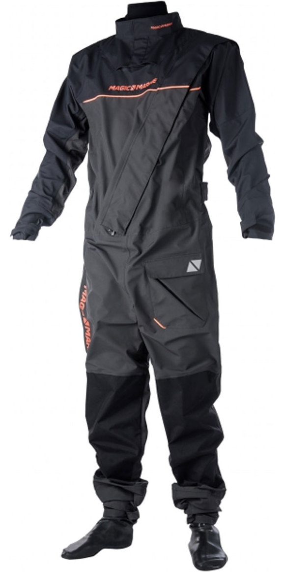 2020 Magic Marine Junior Regatta Front Zip Drysuit Grey 170099