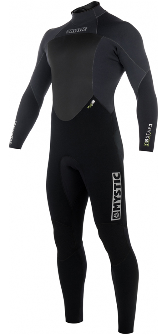 2018 Mystic Star 5/4mm Back Zip Wetsuit BLACK 180018