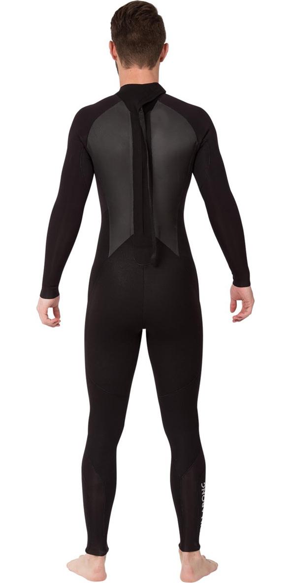 2019 Billabong Mens Intruder 3/2mm GBS Back Zip Wetsuit BLACK 043M15