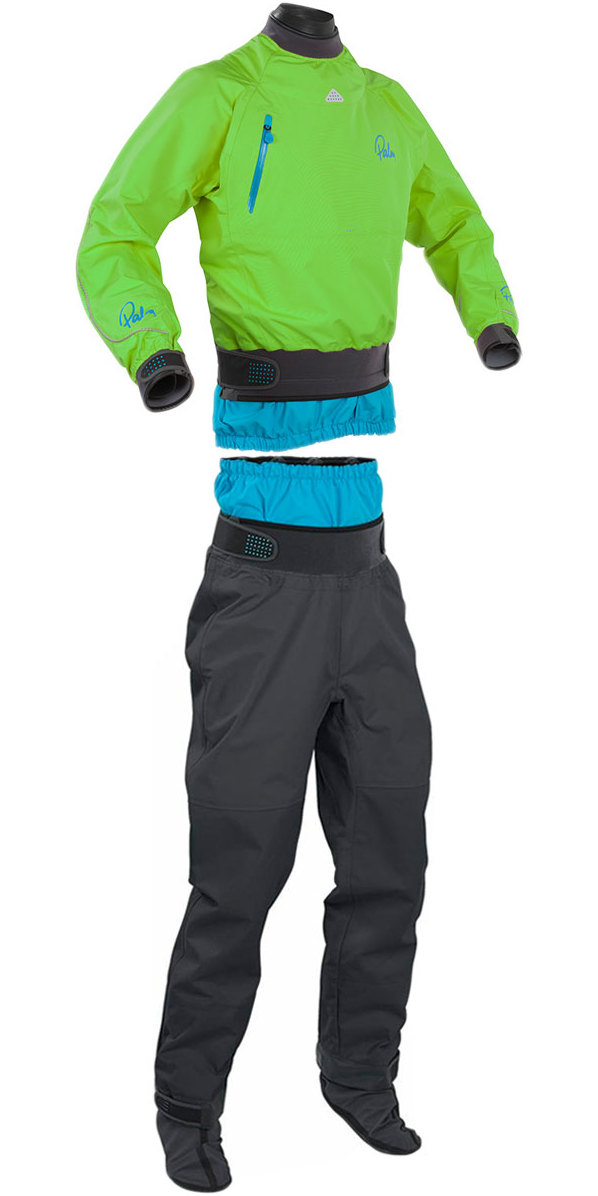 2018 Palm Atom Dry Cag 11436 & Trouser 11742 Combi Set Lime / Grey