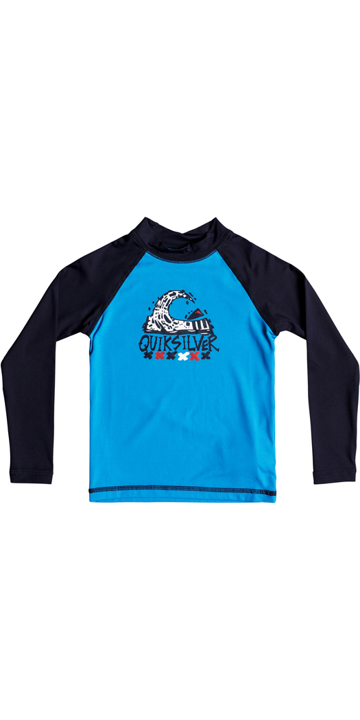 700dade26a Quiksilver Boys Bubble Dream Long Sleeve Rash Vest BLUE EQKWR03023