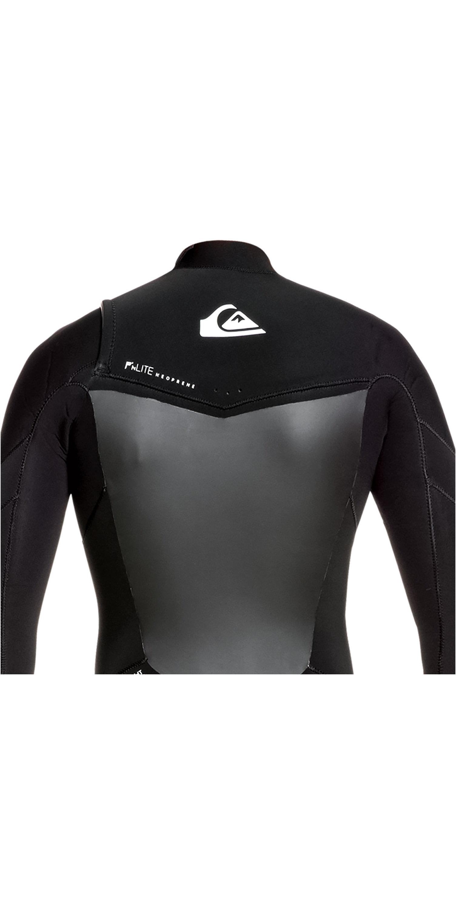 2019 Quiksilver Mens Syncro 5/4/3mm Chest Zip Wetsuit Black / White EQYW103089