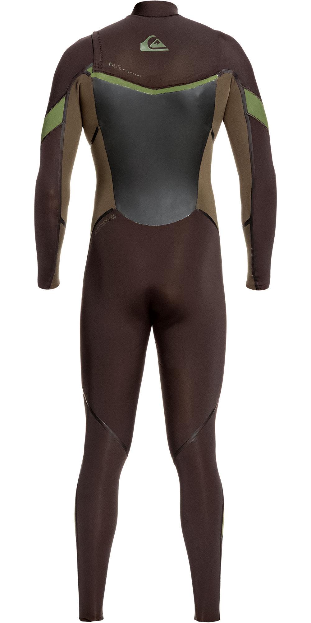 2019 Quiksilver Mens Syncro Plus 5/4/3mm Chest Zip Wetsuit Velvet Brown / Dark Beech EQYW103083