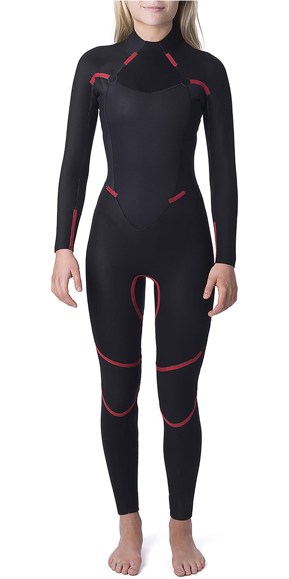 2019 Rip Curl Womens Omega 3/2mm Back Zip GBS Wetsuit WSM4LW Black