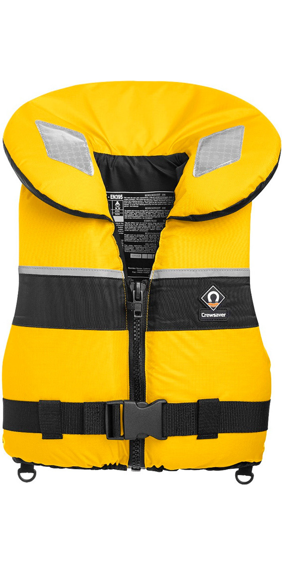 2020 Crewsaver Adult Spiral 100n Life Jacket in Yellow / Black 2820